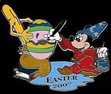 Disney Pin 53376 WDI Sorcerer Mickey Easter Egg Fantasia 2007 Mint on Card LE *