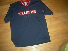 Minnesota Twins Blue V-Neck Adult Large Jersey by NIKE,CUSTOMIZE for $47 More
