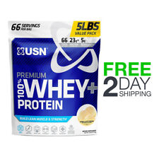 USN Premium 100% Whey+ Protein Build Lean Muscle & Strength 5LB - Vanilla