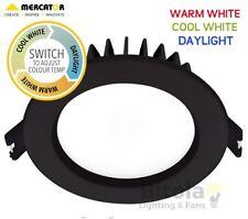 10w LED DOWNLIGHT CCT CHANGING WARM, COOL OR DAYLIGHT MERCATOR OPTICA TRIO BLACK