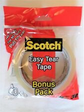 3m Scotch Easy Tear Cinta transparente 25mm x 50m & 19mm x 30 M Bonus Paquete