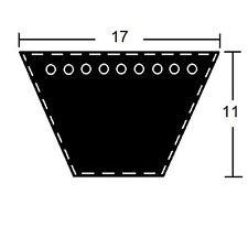 Keilriemen Profil B/17 x 889