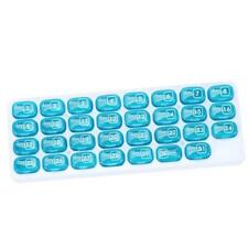 One Month  Pill Organiser 31 Day Box Lid Medicine Tablet Storage Dispenser