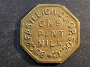 Co-op token, Devon, Buckfastleigh, 1 Pint Milk.