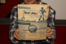 Vintage 1940's Ford Trucks & Cars Babe Ruth Sale Brochure Gas Oil Sign