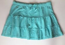Lacoste Turquoise Tiered Skirt Prep French 42 Alligator Cotton M