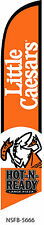 LITTLE CEASERS HOT-N-READY LARGE PIZZA SWOOPER FEATHER BANNER FLAG SIGN