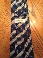 Bobby Macc. Blue And Very Pale Gray Striped Necktie