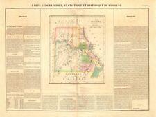Mapa de estado de Missouri. fronteras < 1837 Platte compra. Buchon 1825 indios frontera.