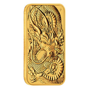 Goldmünze Rectangular Dragon 1 oz Australien 2021 in Stempelglanz