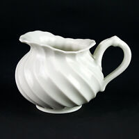 """Haviland Limoges Torse Creamer, Vintage France All White Swirl, Full Size 3"""""""