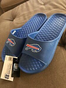 Buffalo Bills Nfl Shower Slippers Flip Flop Sandals Size Medium Mens 9-10
