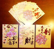 60 Pieces Deluxe Golden Lucky Money Envelopes, Hong Bao Red Packets