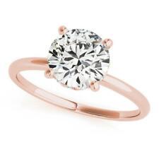 2.95 Ct Brilliant Cut Off White Diamond Solitaire Ring.Great Shine & Luster!