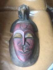 African Wooden Mask  Plaque Large