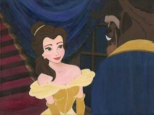 Disney Fine Art Limited Edition Canvas First Date-Beauty+Beast-Paige O'Hara