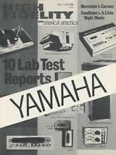 Yamaha TB-700 Original Cassette Deck Lab Report Brochure 1973