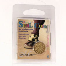 Manuscript Decorative Wax Sealing 18mm Coin Seal - Initial T