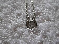 Ex-display en color plata Colgante Collar 20 pulgadas con diamantes de imitación