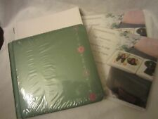 Creative Memories Scrapbook 7x7 Album Green Shimmer Pink Floral Refill Protector