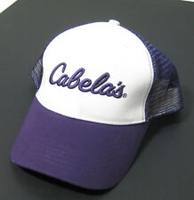 fc3b6b6c7b5fd CABELA S Mens Purple   White Canvas   Mesh Trucker Hat (Adjustable)  Baseball Cap