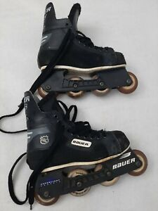 """Size 10"""" BAUER 76mm Roller Hockey Inline Skates NHL Mens Vintage? roller blades"""
