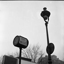 Paysage urbain Porte des lilas Paris c. 1950 - Négatif 6 x 6 - 9