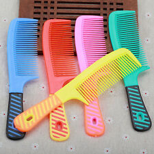 Wide Tooth Shower Comb Plastic Handle Wet Haircut Hairdressing Hairstyle Tool