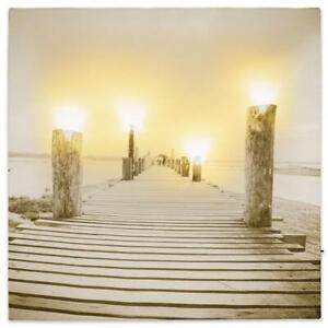 LED Wandbild mit Beleuchtung 3 Laternen Strand Laterne Meer Meerblick Leuchtbild