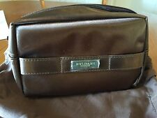 NEW + SEALED Emirates First Class BVLGARI Female Airline Amenity Kit - Brown