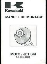 Manuel de Montage & Préparation KAWASAKI MOTOS années 90 en Français + JET SKI