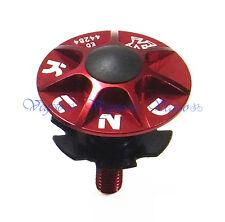 """NEW KCNC HEADSET TOP CAP SCREW STAR NUT KIT 1-1/8"""" MTB ROAD, RED"""