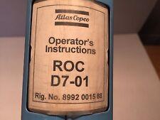 Atlas Copco Roc D7 01 Hydraulic Drill Maintenance Amp Operators Manual