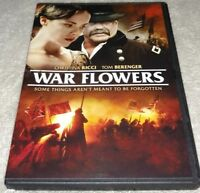 War Flowers Christina Ricci Tom Berenger Jason Gedrick  (DVD, 2013)  *RARE opp