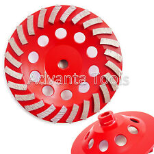 "7"" Turbo Diamond Grinding Cup Wheel for Concrete 24 Segs - 5/8""-11 Threads"