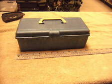Vintage Small  Blue  Plastic Tackle Box, see pictures