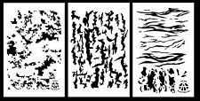 "3Pack! Spray Paint Camouflage Stencils 14"" - Digicam Tree Bark Tiger Stripe Camo"