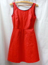 Robe trapèze rouge style rétro Zara t.34