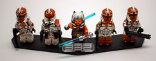 Lego Star Wars Custom 332nd Clones with Ahsoka Tano + Custom Acrylic Stand