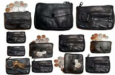 Lot of 12 Change purse, leather coin case, Little case w key ring New in package