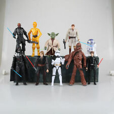 "Star Wars 6"" Action Figures Darth Vader Anakin Luke Skywalker Obi-Wan Yoda 10pcs"
