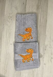 Hand Towel Set Dinosaur Kids Birthday Gift Face Washer Christmas