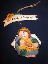 Eddie Walker Angel of Summer Holding a Sunflower Signed Very Cute ~ Rare