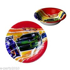 (8) HOT WHEELS Fast Action 14oz PAPER SNACK BOWLS ~ Birthday Party Supplies