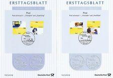 BRD 2009: Post universal I+II! Ersttagsblätter der Nr 2723+2724 + 2733+2734! 159