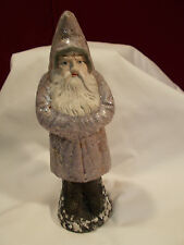 "Original ANTIQUE 9"" LAVENDER Belsnickle / Santa Candy Container #6"