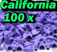 Lot 100 Rj45 Connector Purple Cat5 5e Modular End Cap Boot Head Plug Cat6 Cable