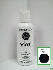 CREATIVE IMAGE ADORE SEMI PERMANENT HAIR COLOR #121 JET BLACK 4oz
