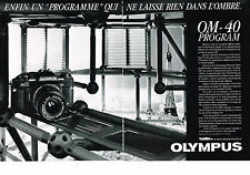PUBLICITE ADVERTISING  1985   OLYMPUS  OM-40 program ( 2 pages)