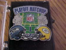 GREEN  BAY PACKERS VS SEATTLE SEAHAWKS NFC 2014 Playoff Matchup Pin version 2
